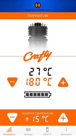 Crafty app temperatureinstellungen